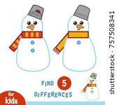 find differences  education... | Shutterstock .eps vector #757508341