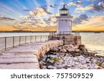 south portland  maine  usa at... | Shutterstock . vector #757509529