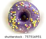 close up top view of  donuts... | Shutterstock . vector #757516951