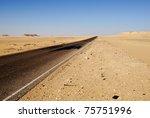 Sahara, the road in the desert, Africa, Egypt - stock photo
