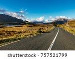 road going across beautiful... | Shutterstock . vector #757521799