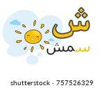 Arabic Alphabet Shiin With...