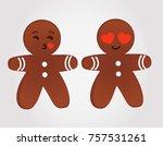 emoticons gingerbread men in...   Shutterstock .eps vector #757531261