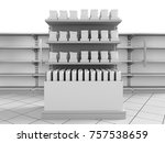 mall shelf with products. 3d... | Shutterstock . vector #757538659