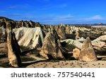 volcanic rocks   turkey | Shutterstock . vector #757540441