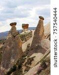 volcanic rocks   turkey | Shutterstock . vector #757540444