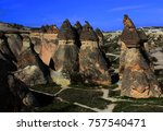 volcanic rocks   turkey | Shutterstock . vector #757540471