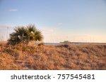 myrtle beach coast background.... | Shutterstock . vector #757545481