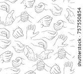 seamless pattern of men's hands ... | Shutterstock .eps vector #757550854