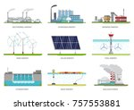 vector set of illustrations.... | Shutterstock .eps vector #757553881