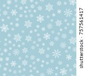 winter snowflakes background ... | Shutterstock .eps vector #757561417