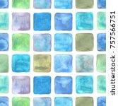 Seamless Mosaic Watercolor...