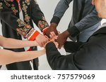 people of different... | Shutterstock . vector #757579069
