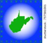 map of west virginia | Shutterstock .eps vector #757581001