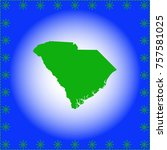 map of  south carolina  | Shutterstock .eps vector #757581025