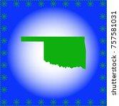 map of  oklahoma | Shutterstock .eps vector #757581031