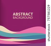 background purple modern... | Shutterstock .eps vector #757581229