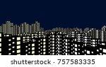 night city buildings 3d...   Shutterstock . vector #757583335