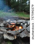 Small photo of Campfire in Algonquin Park Ontario