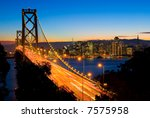 San Francisco And Bay Bridge A...