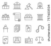 set of judge related vector... | Shutterstock .eps vector #757603534