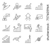 set of growth related vector... | Shutterstock .eps vector #757605964