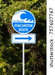 A Highway Sign Marking Tsunami...