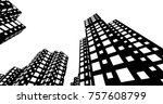 abstract city buildings   | Shutterstock .eps vector #757608799