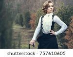 portrait of gorgeous young...   Shutterstock . vector #757610605