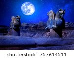 Small photo of Stone column sculpture of a Griffin in Persepolis against a moon and stars. The Victory symbol of the ancient Achaemenid Kingdom. Iran. Persia. Shiraz. Artistic night fantasy image.