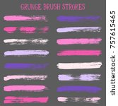 modern watercolor daubs set ... | Shutterstock .eps vector #757615465