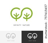 infinity nature logo   two... | Shutterstock .eps vector #757615657