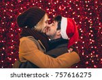 beautiful young couple in love...   Shutterstock . vector #757616275