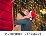 beautiful young couple in love...   Shutterstock . vector #757616305