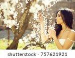 seasonal feature  beauty and...   Shutterstock . vector #757621921