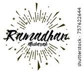ramadhan mubarak  beautiful...   Shutterstock .eps vector #757622644