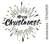 merry christmas  beautiful... | Shutterstock .eps vector #757625929