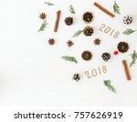 creative christmas composition... | Shutterstock . vector #757626919