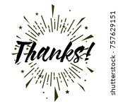 thanks  beautiful greeting card ...   Shutterstock .eps vector #757629151