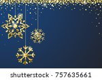 Gold Blue Sparkle Ornaments...