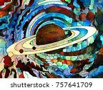 stained glass forever series.... | Shutterstock . vector #757641709