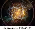 central design series. abstract ... | Shutterstock . vector #757643179