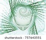3d rendering   mind field... | Shutterstock . vector #757643551