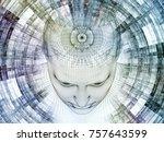 3d rendering   mind field... | Shutterstock . vector #757643599