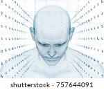 3d rendering   mind field... | Shutterstock . vector #757644091