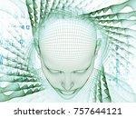 3d rendering   mind field... | Shutterstock . vector #757644121