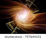 fractal swirl series. abstract... | Shutterstock . vector #757644151