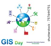 important day  geographic... | Shutterstock .eps vector #757644751