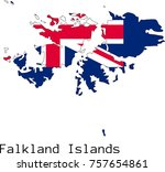 vector falkland islands  map... | Shutterstock .eps vector #757654861