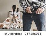 sexual abuse of couple or... | Shutterstock . vector #757656085